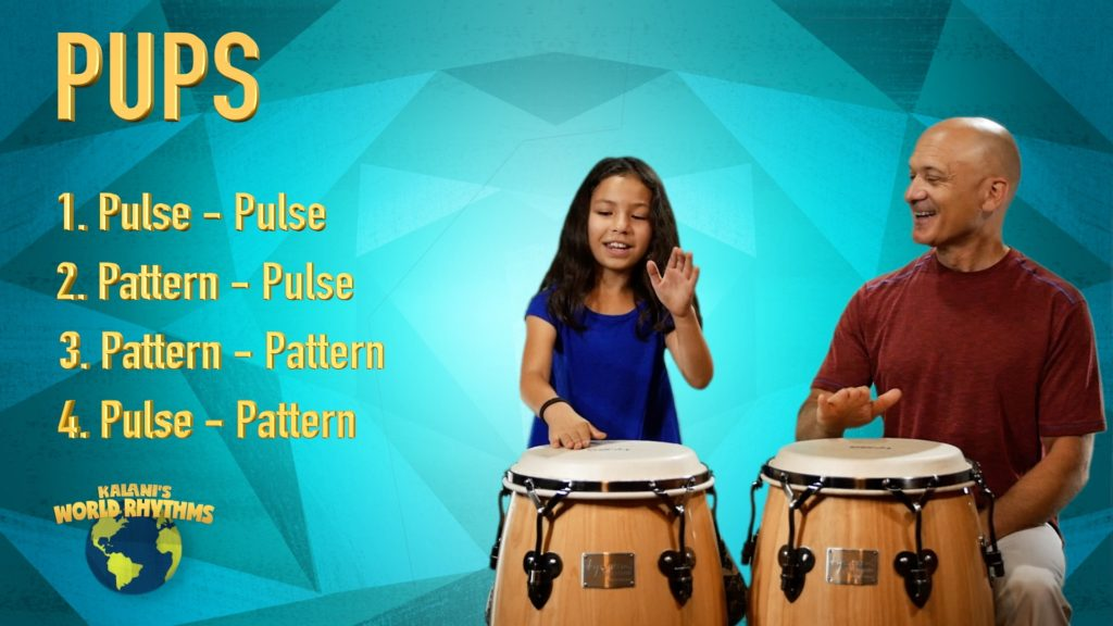 teaching PUPS - WORLD DRUMMING