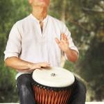 Kalani Playing Djembe
